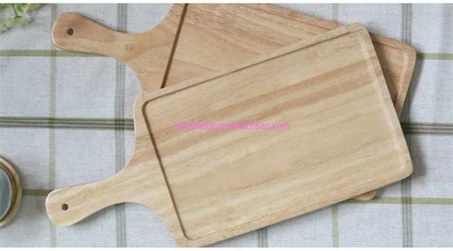 Khay gỗ trưng bày bánh có tay cầm
