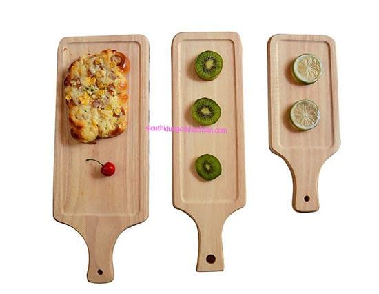 Khay trưng bày bánh bằng gỗ