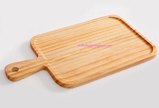 Khay trưng bày bánh bằng gỗ có tay cầm