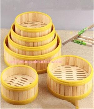 Xửng hấp tre 26cm dùng để hấp há cảo, bánh bao tại TPHCM