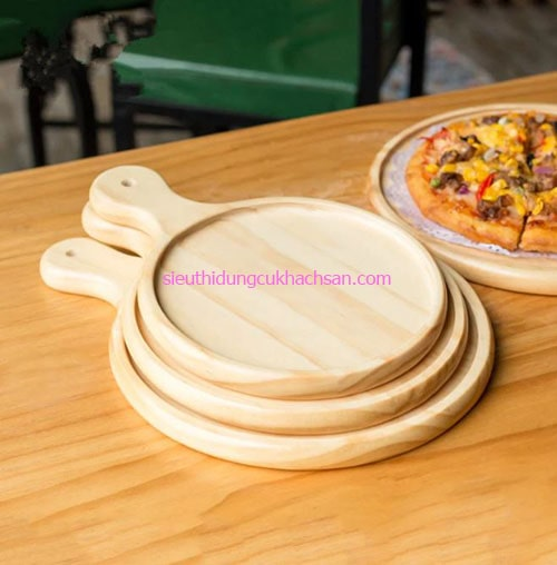 Khay gỗ decor hình tròn