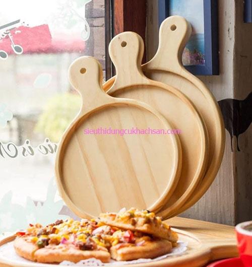 Khay gỗ tròn trang trí bánh