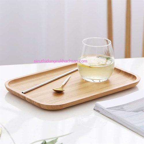 Khay trưng bày hình chữ nhật bằng gỗ
