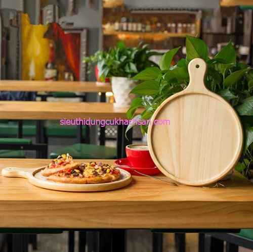Thớt gỗ tròn trang trí bánh