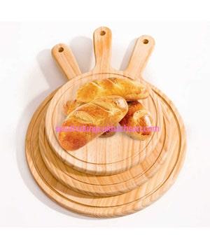Thớt gỗ trang trí thức ăn hình tròn - Dụng Cụ Bếp Nhà Hàng TPHCM