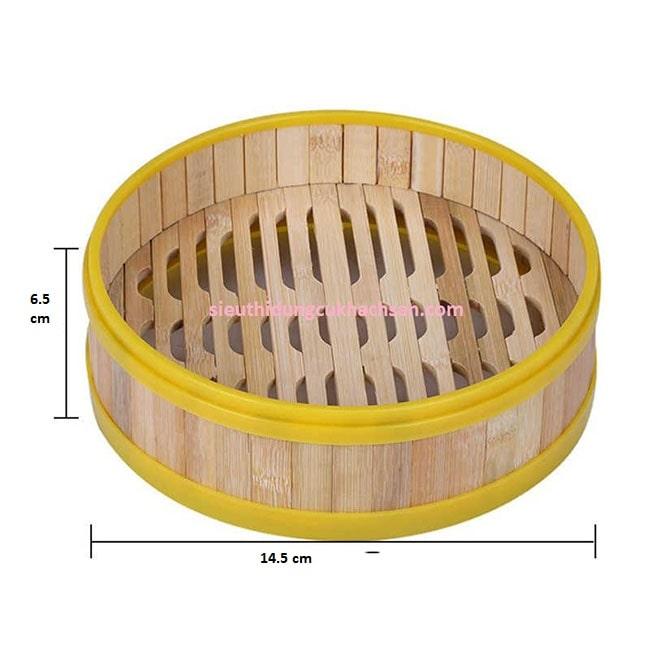 Kích thước xửng hấp dimsum bằng tre viền nhựa