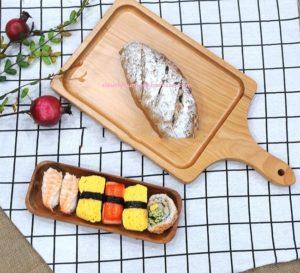 Thớt gỗ trang trí thức ăn