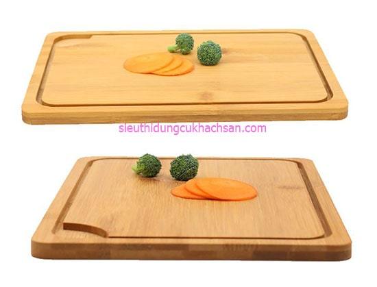 Thớt gỗ trang trí món ăn