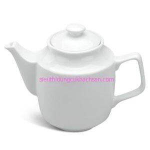Bộ Ấm trà sứ trắng - Dụng cụ nhà hàng khách sạn cao cấp Tín Phát