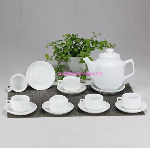 Bộ bình trà gốm sứ