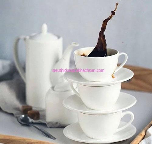 Bộ tách coffee sứ