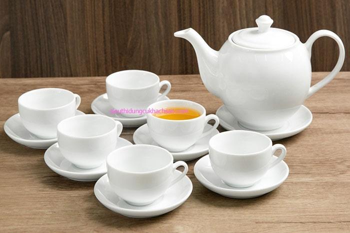 Bộ tách trà gốm sứ Minh Long
