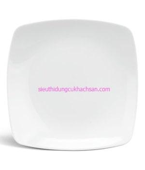 Đĩa sứ vuông trắng - 391815000 Dụng Cụ Bếp Nhà Hàng Khách Sạn