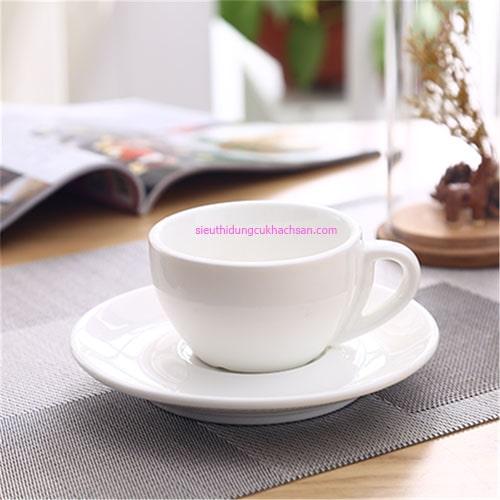 Tách cafe sứ trắng