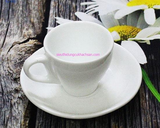 Tách espresso sứ trắng